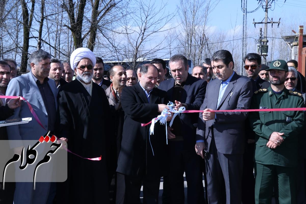 افتتاح پروژه های عمرانی و زیرساختی در بخش سنگر