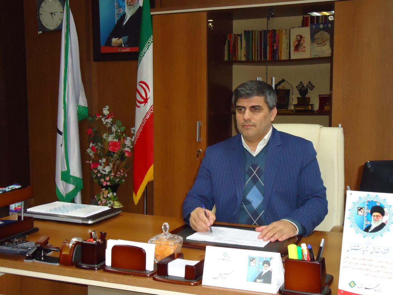 پیامتبریک رییس اداره امور شعب بانک مهر اقتصاد گیلان بمناسبت چهل سالگی انقلاب اسلامی