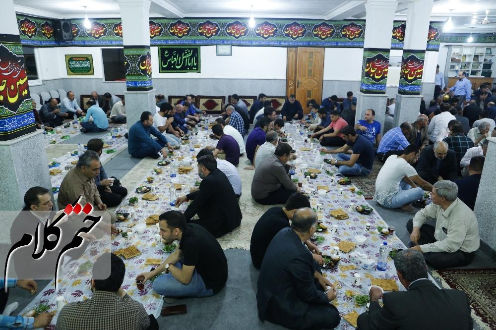 گزارش تصویری افطار رهروان راه شهید مدافع حرم، بابک نوری هریس در حسینیه قائم رشت