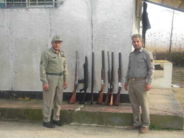 ۷ قبضه اسلحه شکاری در صومعه سرا کشف و ضبط شد