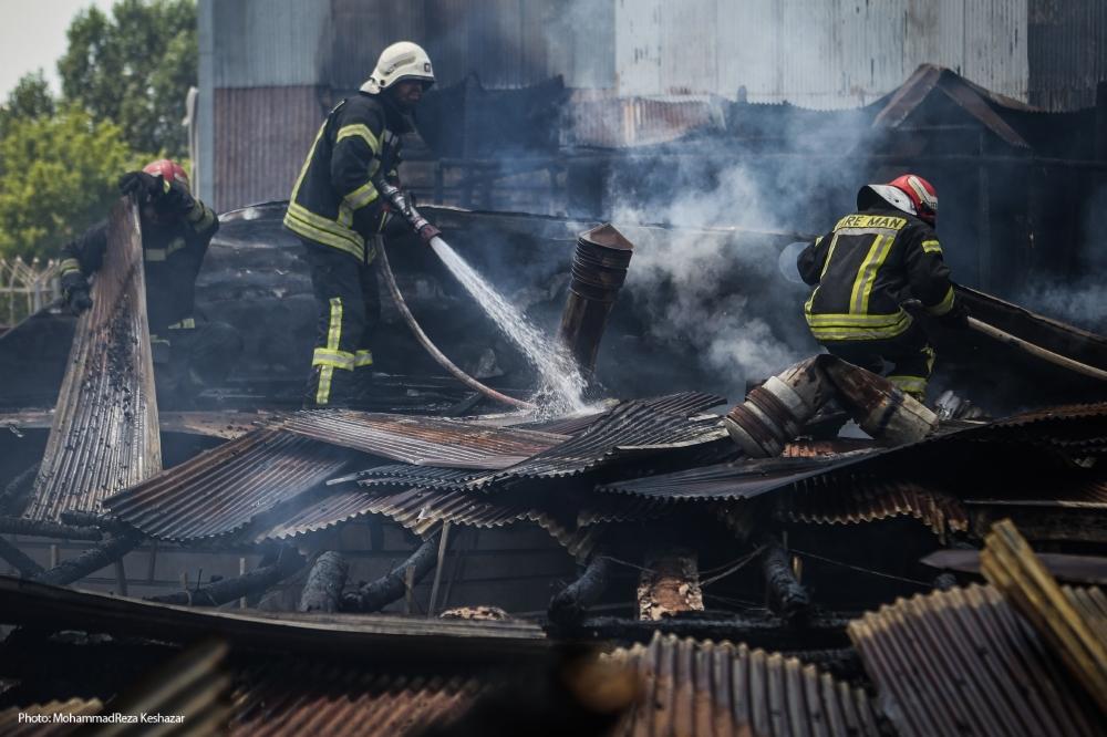 اطفاء حریق ۳باب منزل مسکونی در رشتیان