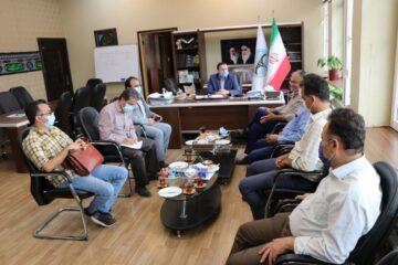 جلسه هماهنگی و بررسی چگونگی پیشرفت پروژه ترمیم و بهسازی خیابان شهید چمران لنگرود به روایت تصویر