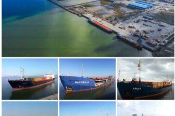 رکورد شکنی بندر کاسپین در شنبه پرترافیک با ورود و خروج ۶ کشتی