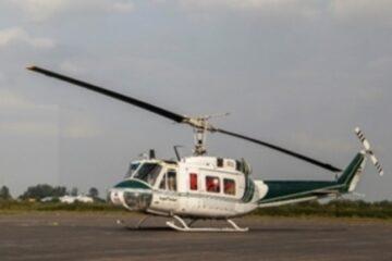چهاردهمین پرواز بالگرد اورژانس گیلان برای انتقال مصدومان تصادفی از ماسال به رشت