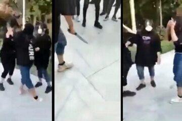 دختر قمه کش و دوستانش به اداره پلیس احضار شدند