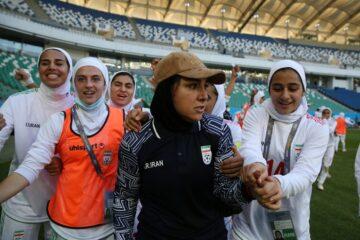 صعود تاریخی زنان فوتبالیست؛ شاگردان ایراندوست با شکست اردن به جام ملتهای فوتبال بانوان صعود کردند  دیدار