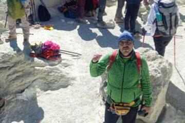 مرتفع ترین قله ایران توسط کوه نورد منطقه آزاد انزلی