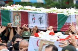 تشییع پیکر مطهر ۲ شهید مبارزه با مواد مخدر گیلان
